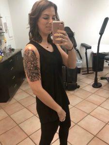 Jennifer and her first tattoo design