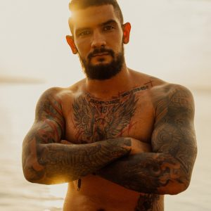 Man LA Ink Tattoos with Sunset